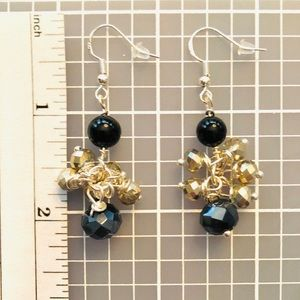 Frontrow.style Jewelry - Sterling Silver Earrings Black Onyx Austrian Cry